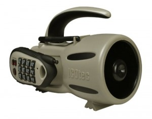 The ICOTech GC300 comes with 12 preprogrammed sounds and has a range of about 150yds.